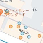 Googleマップ内の色丸について