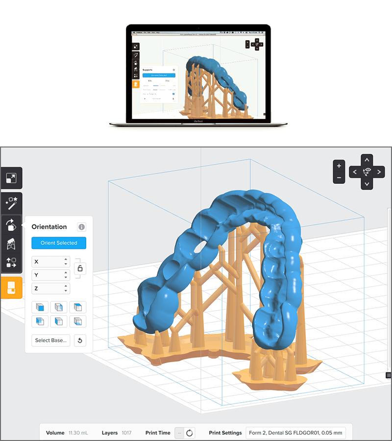 3Dプリンター Form2(フォームツー)付属ソフト「Preform」